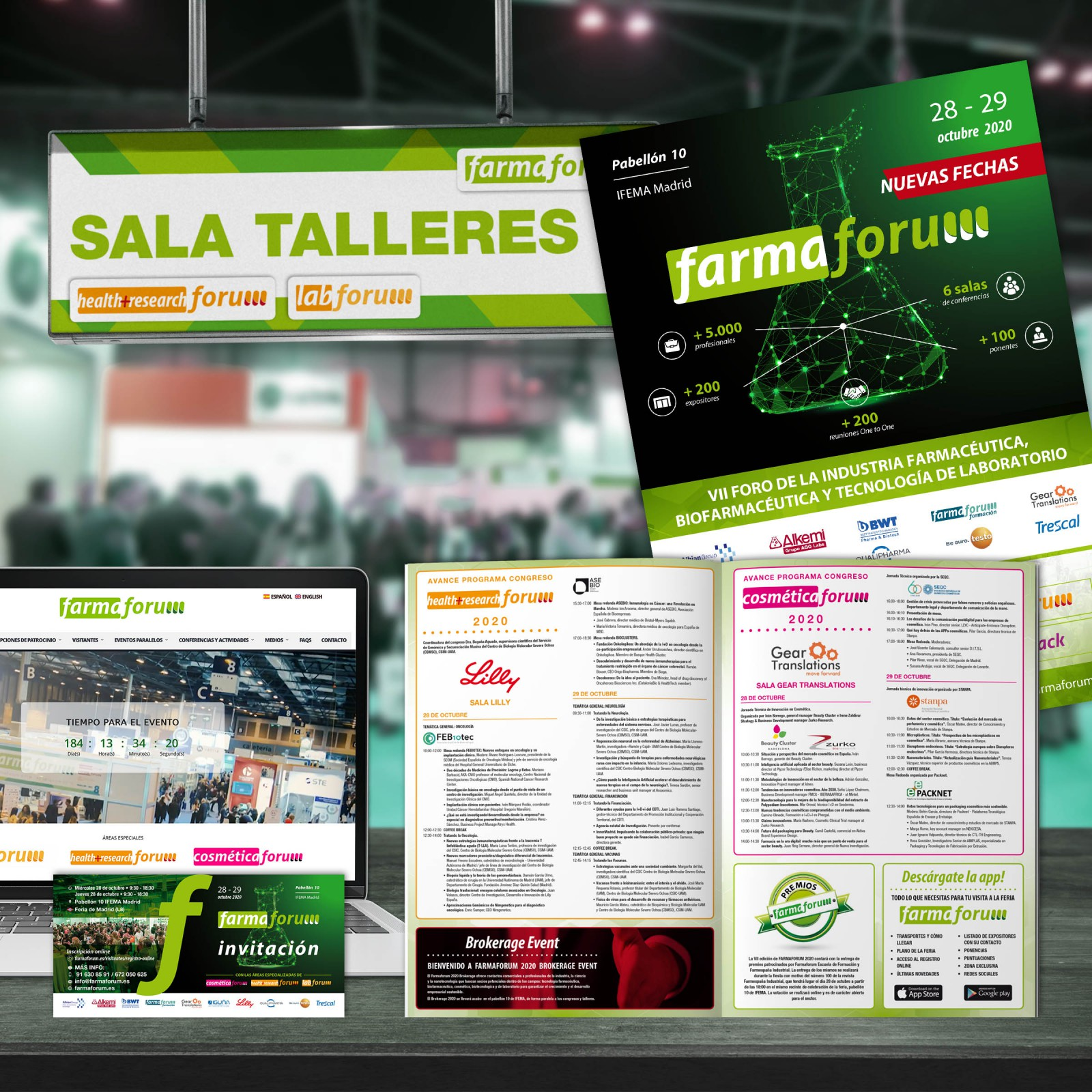 Feria FARMAFORUM Madrid 2020 Diseño Publicidad Marketing Web Dominio Hosting Redes Sociales Evento