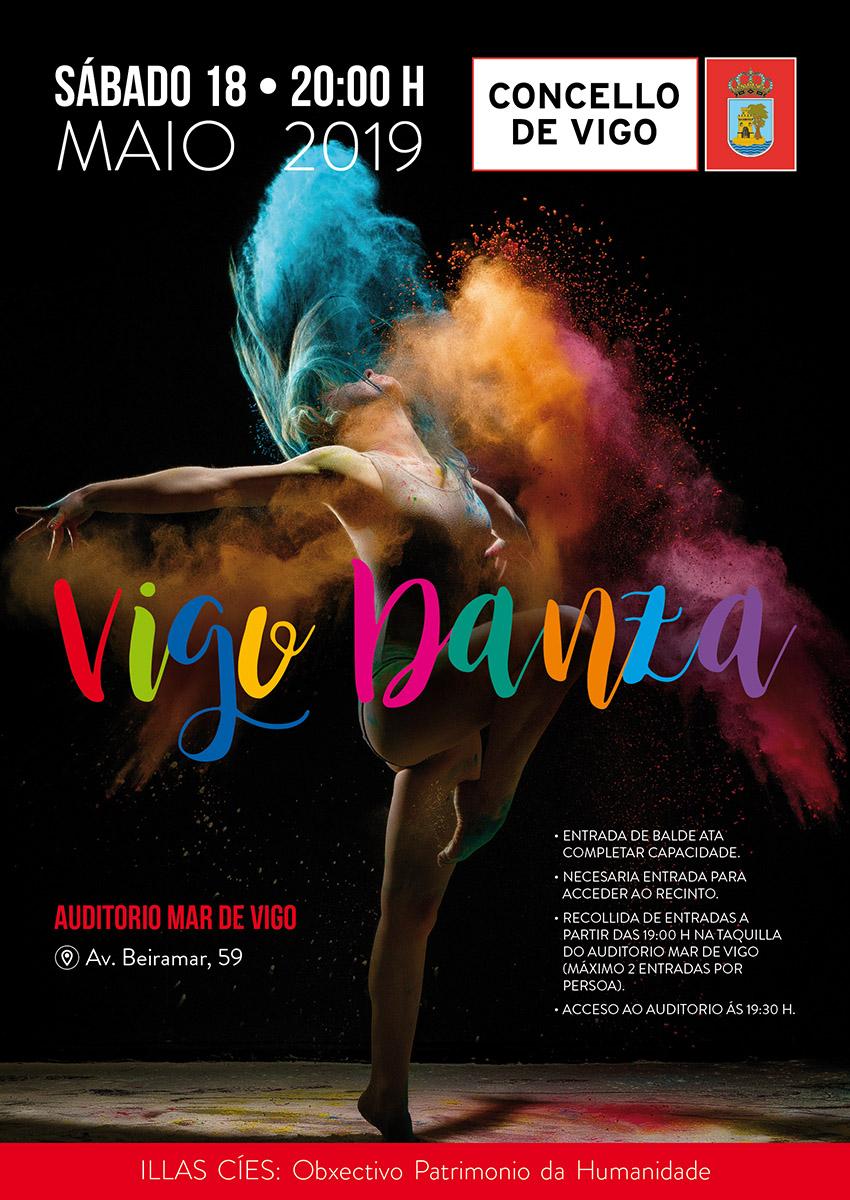 Vigo Danza 2019 Diseño Publicidad Marketing Evento Cultura Cartel Danza