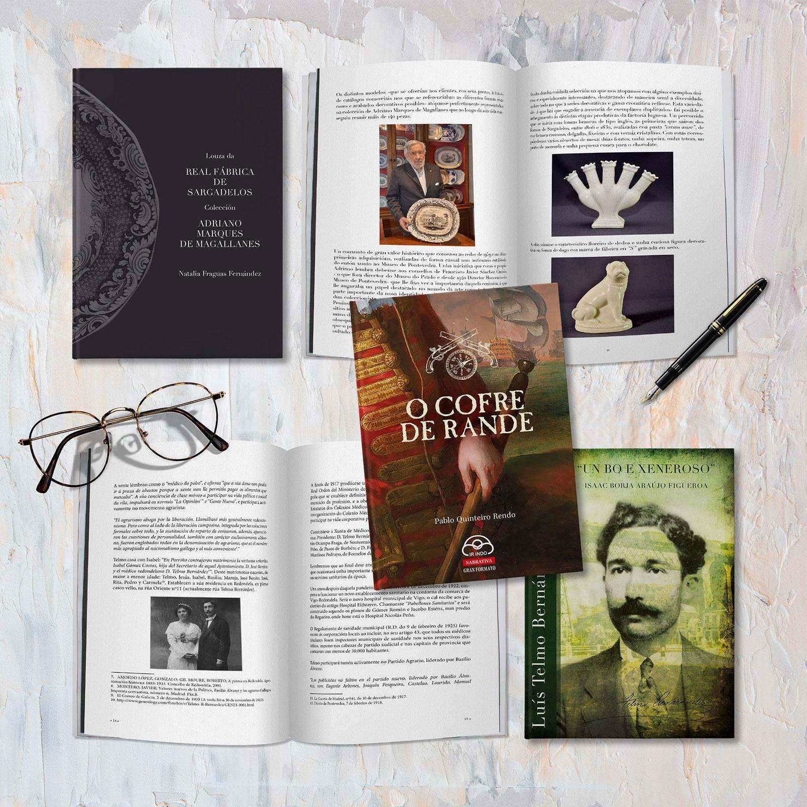 Ediciones Editorial Libros Cultura Redondela Pontevedra Diseño Publicidad Sargadelos Rande Maquetación